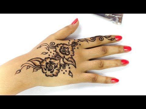 3 Rose Flower Henna Design Easy Beautiful Flower Mehndi Design Youtube Flower Henna Henna Designs Easy Henna Designs