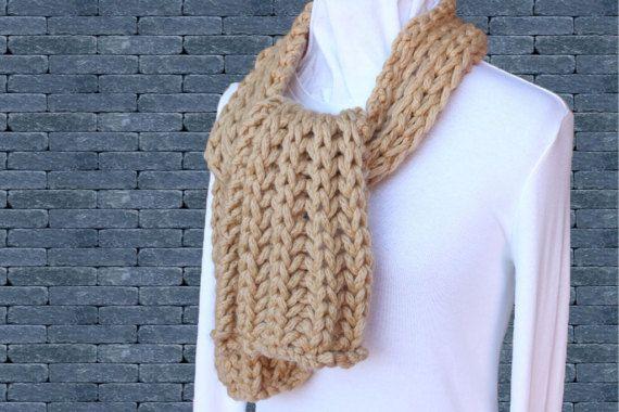 Chunky Knit Scarf Pattern Easy To Knit Scarf Patterns Diy Bulky