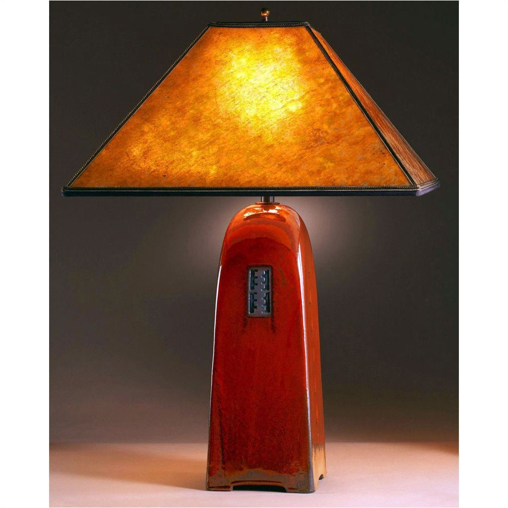 Four Sided Russet Glaze Table Lamp North Union Collection ...