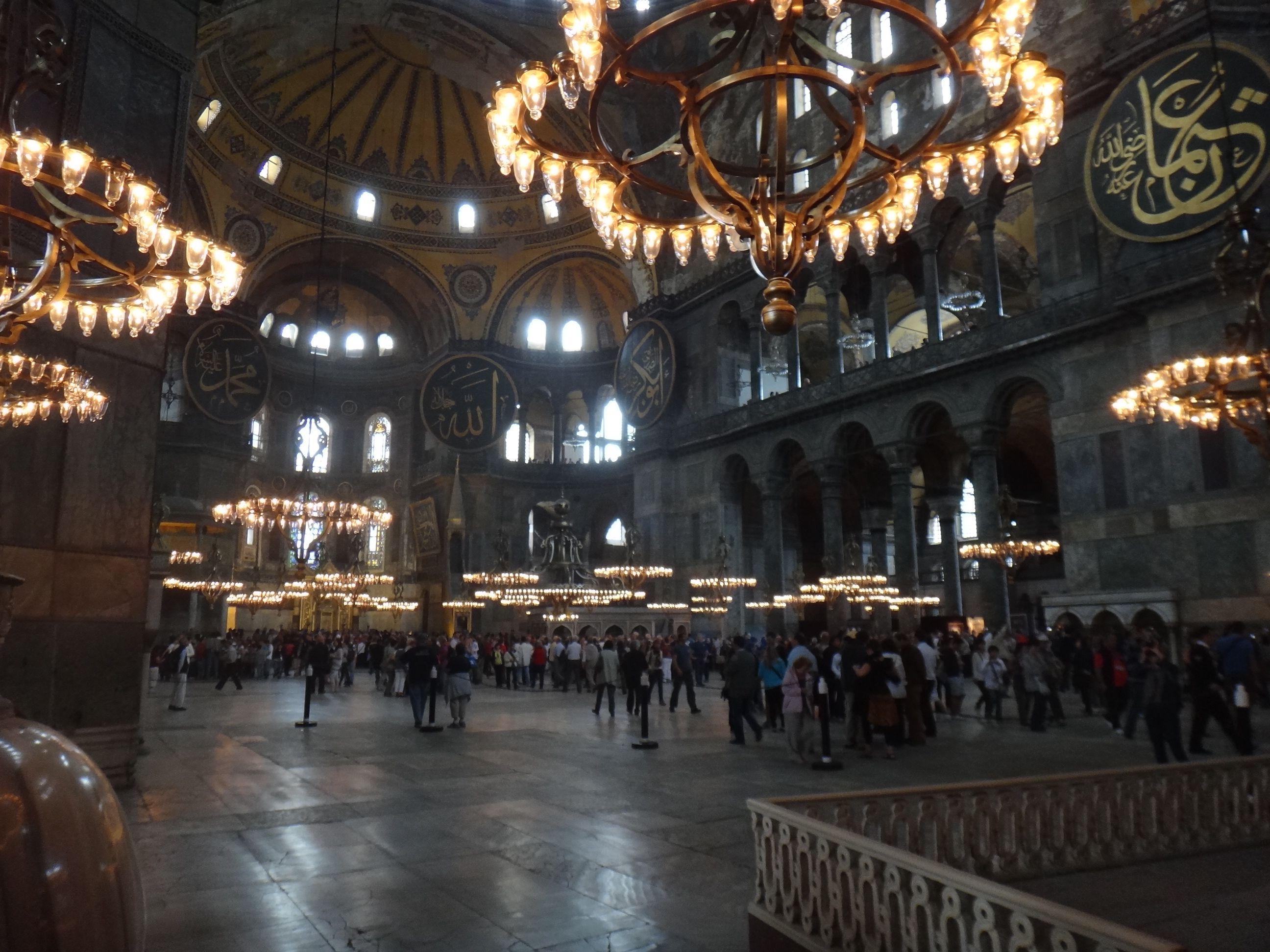Chandeliers in the Hagia Sophia