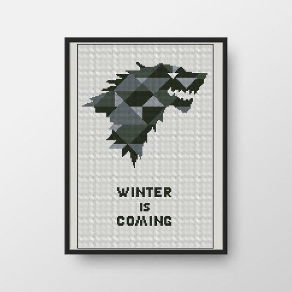 House Stark Game of Thrones cross stitch by LittleCrossStitch ...