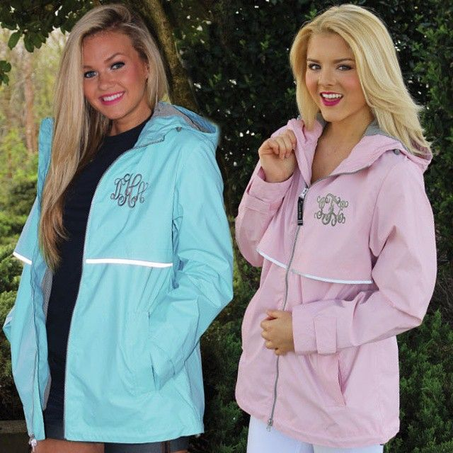 Monogrammed New England Rain Jacket from MarleyLilly