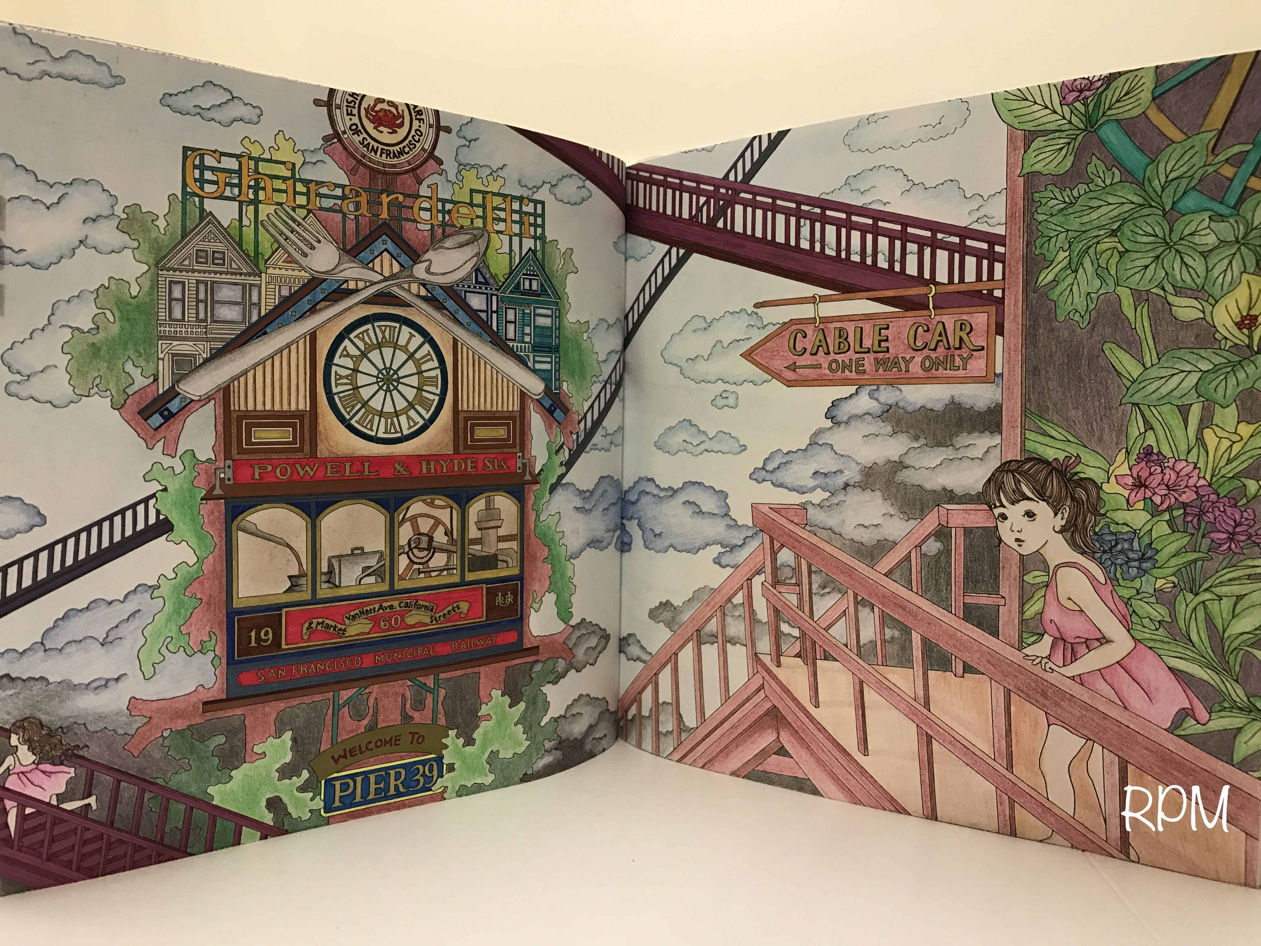 The Time Garden Coloring Book Daria Song Thetimegarden Dariasong Ghirardelli Chocolate Factory Prismacolor Premier