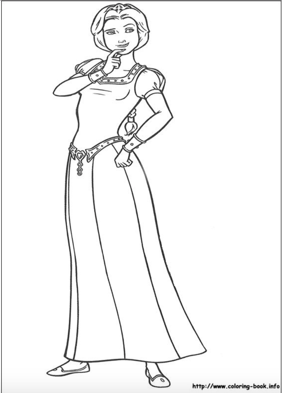 Princess Fiona from Shrek coloring page | Princess Fiona | Pinterest ...