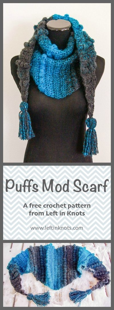 Puffs Mod Scarf Modern Crochet Patterns Modern Crochet And Simple