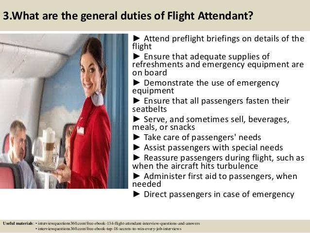 Top 10 flight attendant interview questions answers pdf Flight - flight attendant job description