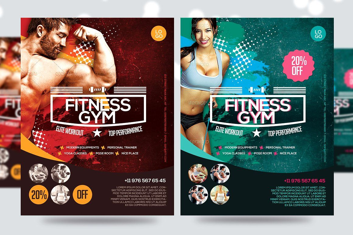 Fitness Flyer  Gym Flyer V  Fonts Flyer Template And Template