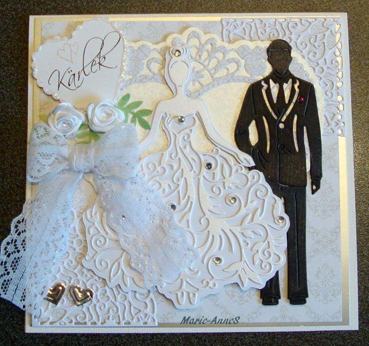 Открытка для жениха и невесты своими руками
