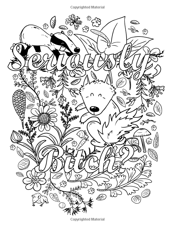 30 Vulgar Adult Coloring Book - Free Printable Coloring Pages