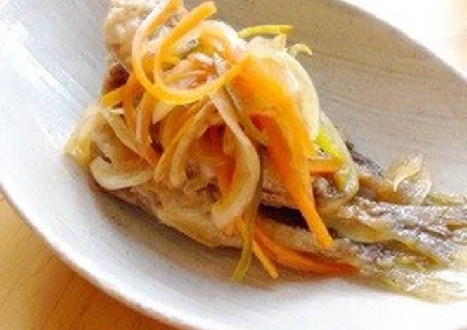 Easy Horse Mackerel Escabeche In Nanban Sauce Recipe -  How are you today? How about making Easy Horse Mackerel Escabeche In Nanban Sauce?