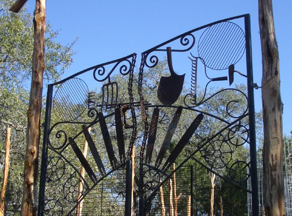 Image detail for garden gate found objects welded into