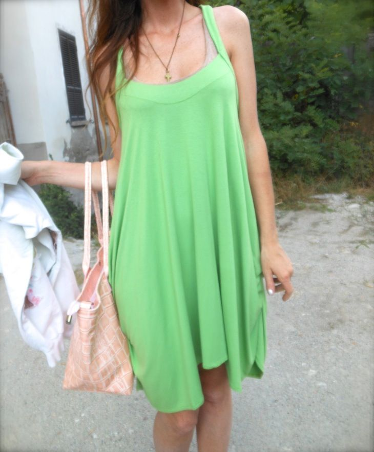 f4b4fa91ab9d  acidgreen  green  dress  girl  summer  fashion  roses  fashionbloggeritaly