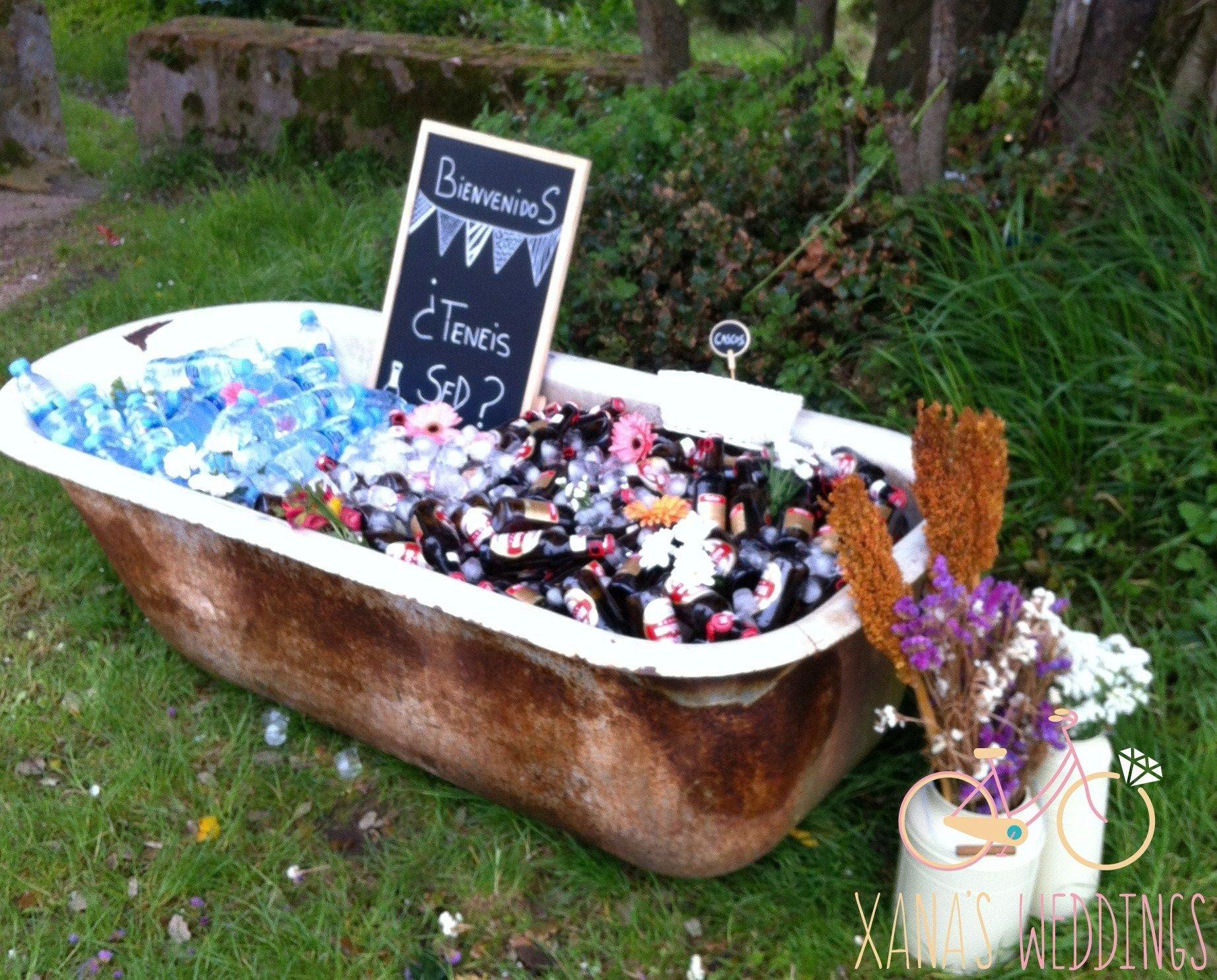 Una boda rustica vintage ba era con bebidas decoraci n - Comprar decoracion vintage ...