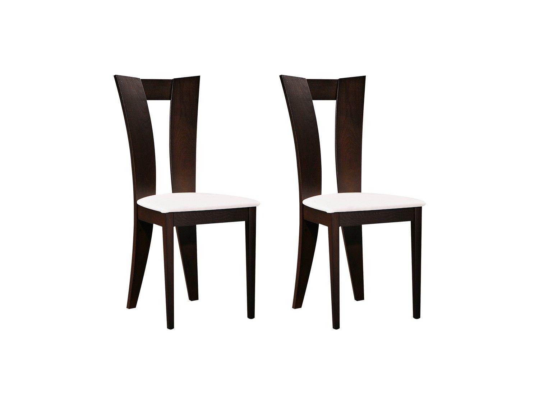 Lot de 2 chaises TIFFANY Hêtre massif Coloris : Wengé et
