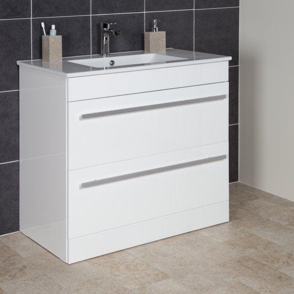 Icona Classic White Floor Standing Vanity Unit Basin 900mm Width Vanity Unitsbathroom
