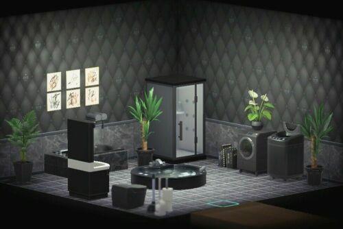 Animal Crossing New Horizons Bathroom Furniture Set Black Ebay Animal Crossing Animal Crossing Wild World New Animal Crossing