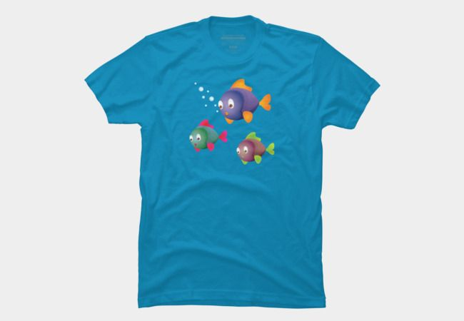 Cartoon fishes with bubbles T-Shirt