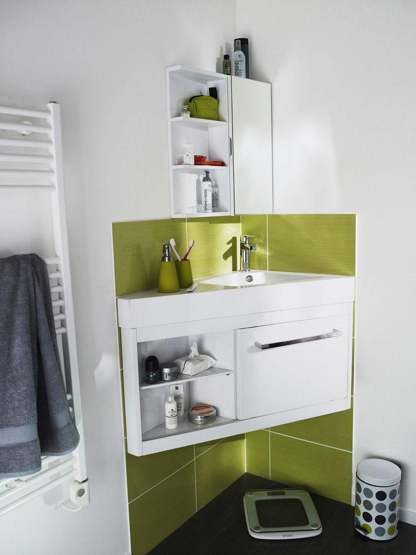 Petite salle de bain avec baignoire, douche, design | Petites ...