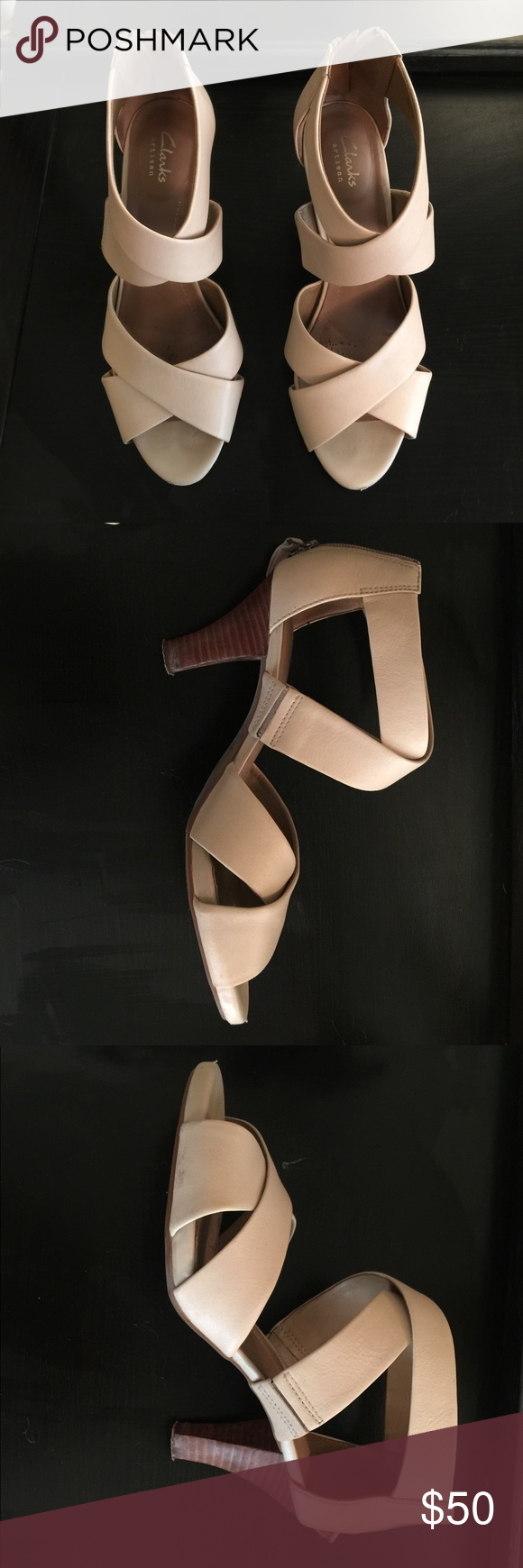 54897d846ef Clarks Women s Florine Sashae Dress Sandal Worn once for an outdoor  wedding. Minor scuffs. This shoe is crafted from genuine full-grain leather  which is ...