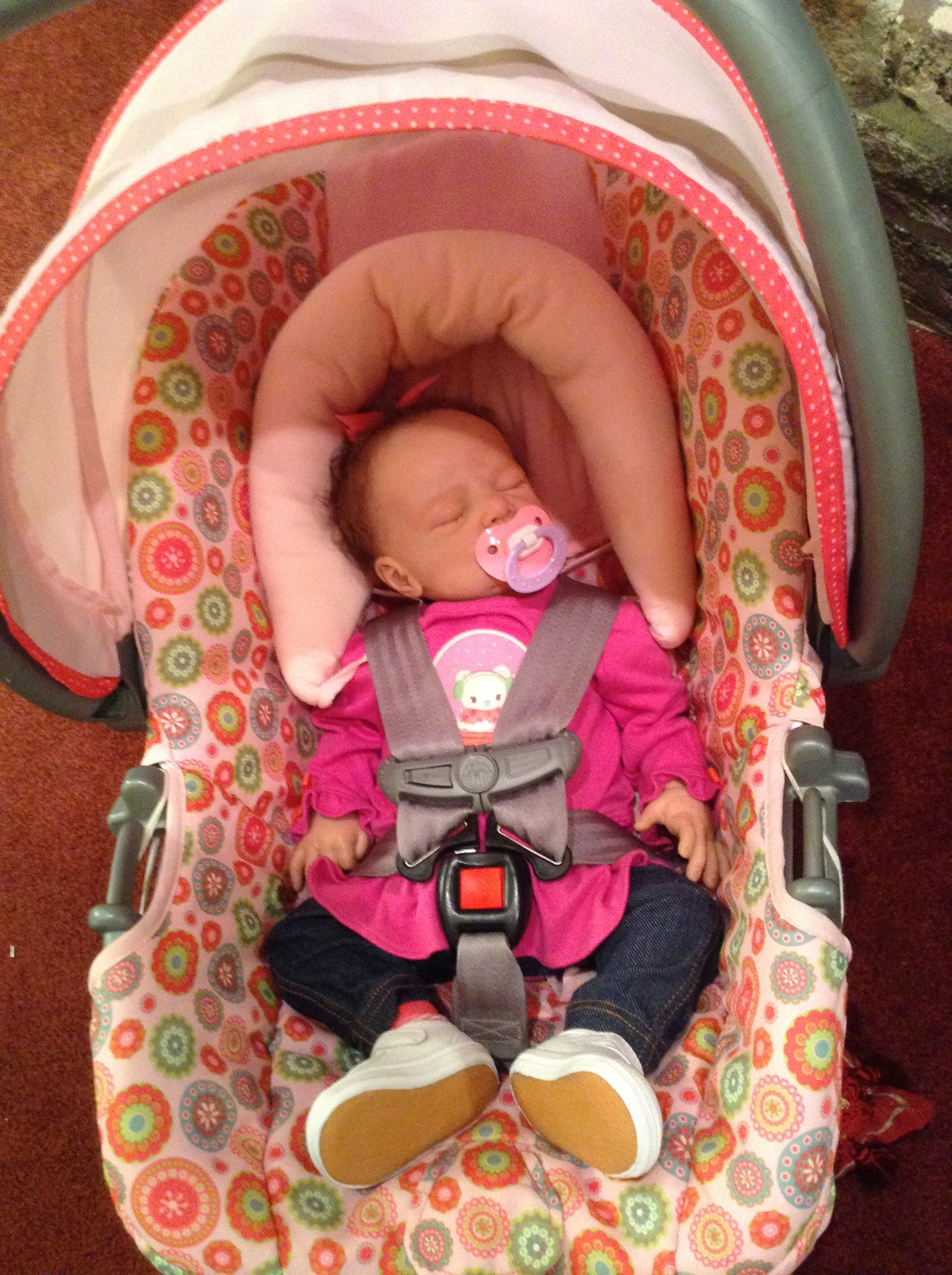 Lillie Beth Reborn Baby Doll In The Like New Car Seat