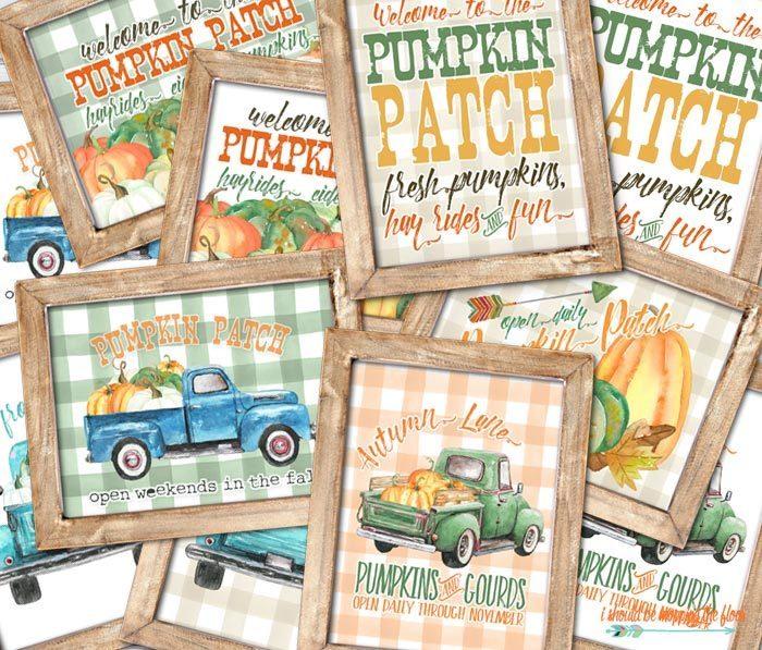 Photo of Pumpkin Patch Printouts (6 Designs / 12 Prints)