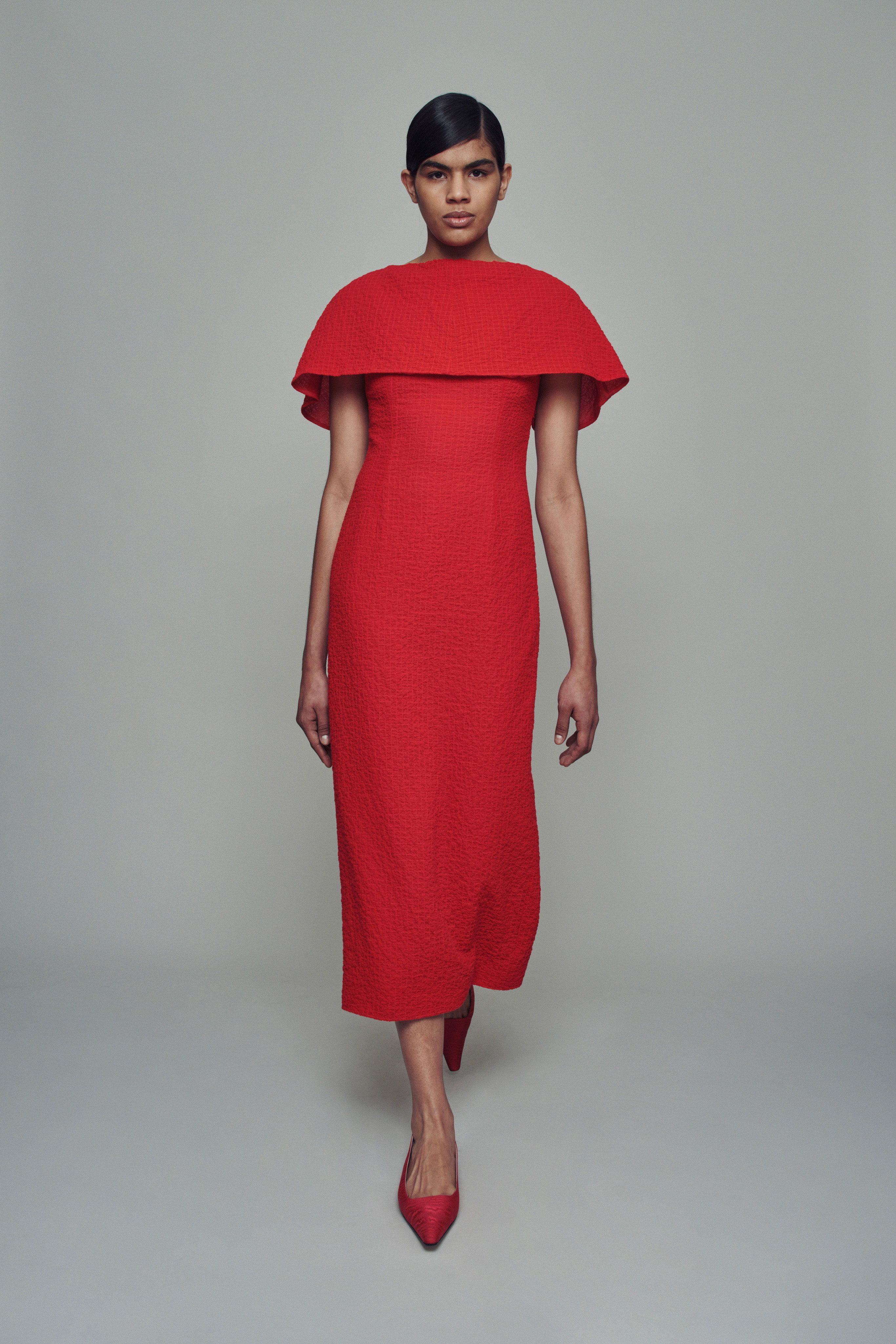 Image result for Emilia Wickstead spring 2021 red outfit