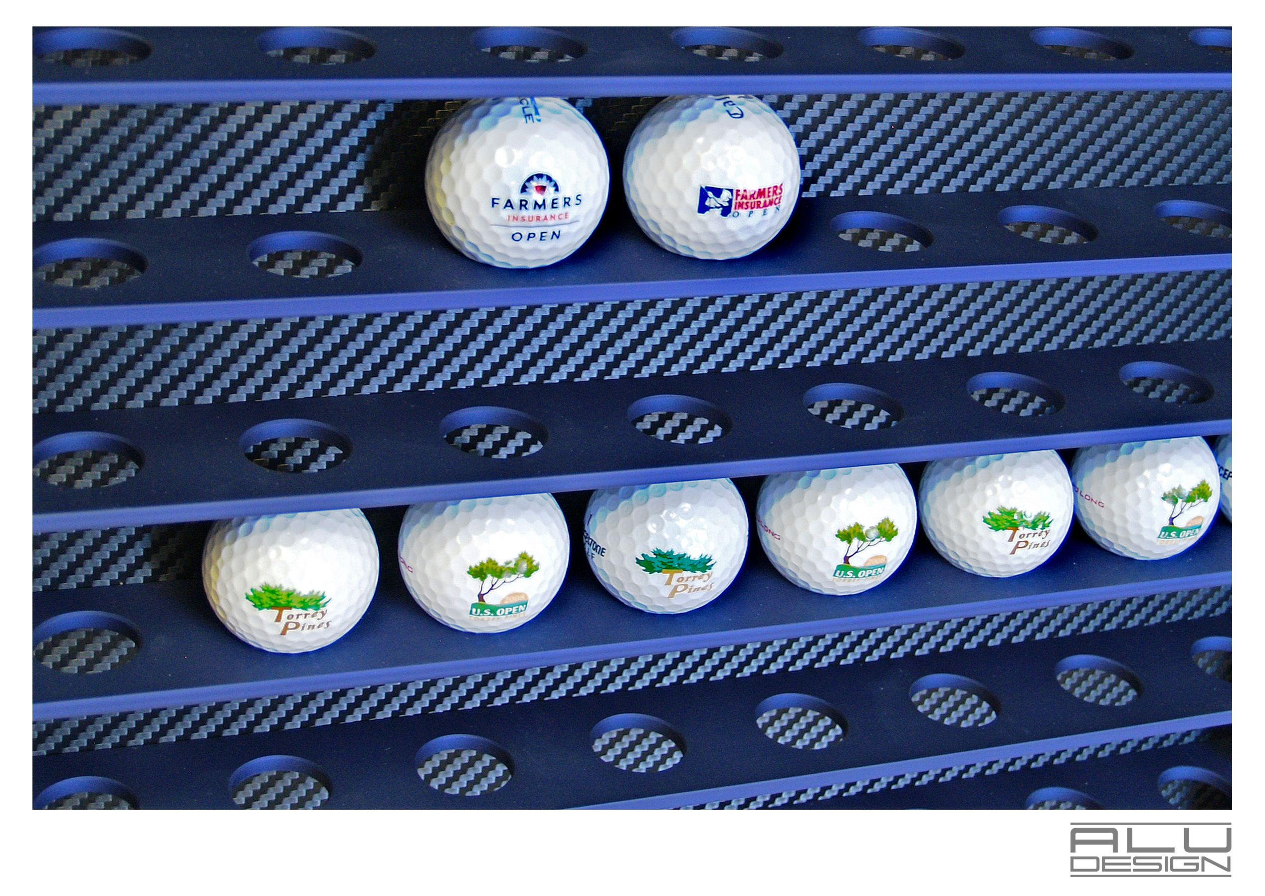 Exclusive modern golf ball display case racks for your golf ball