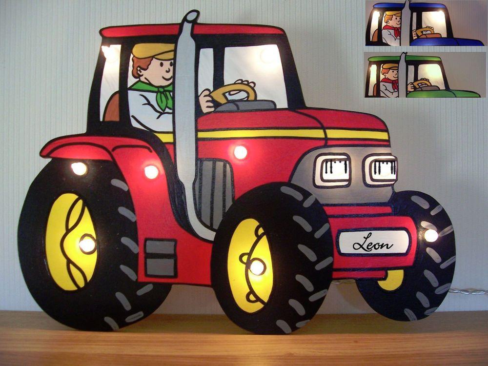 Traktor Traktorlampe Trekker Bauer Bauernhof Lampe Schlaflicht Nachtlicht Traktor Monster Truck Trecker