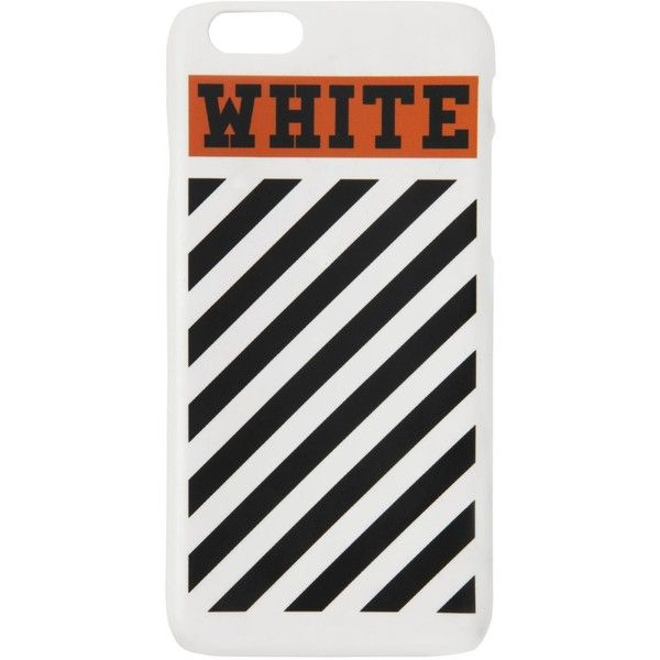 Off White Women Striped Iphone 6 Case (2,885 PHP) ❤ liked on Polyvore featuring accessories and tech accessories