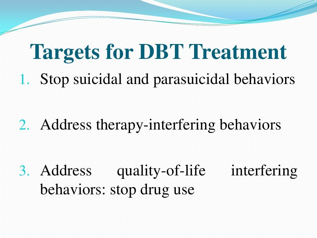 Dbt Treatment Targets