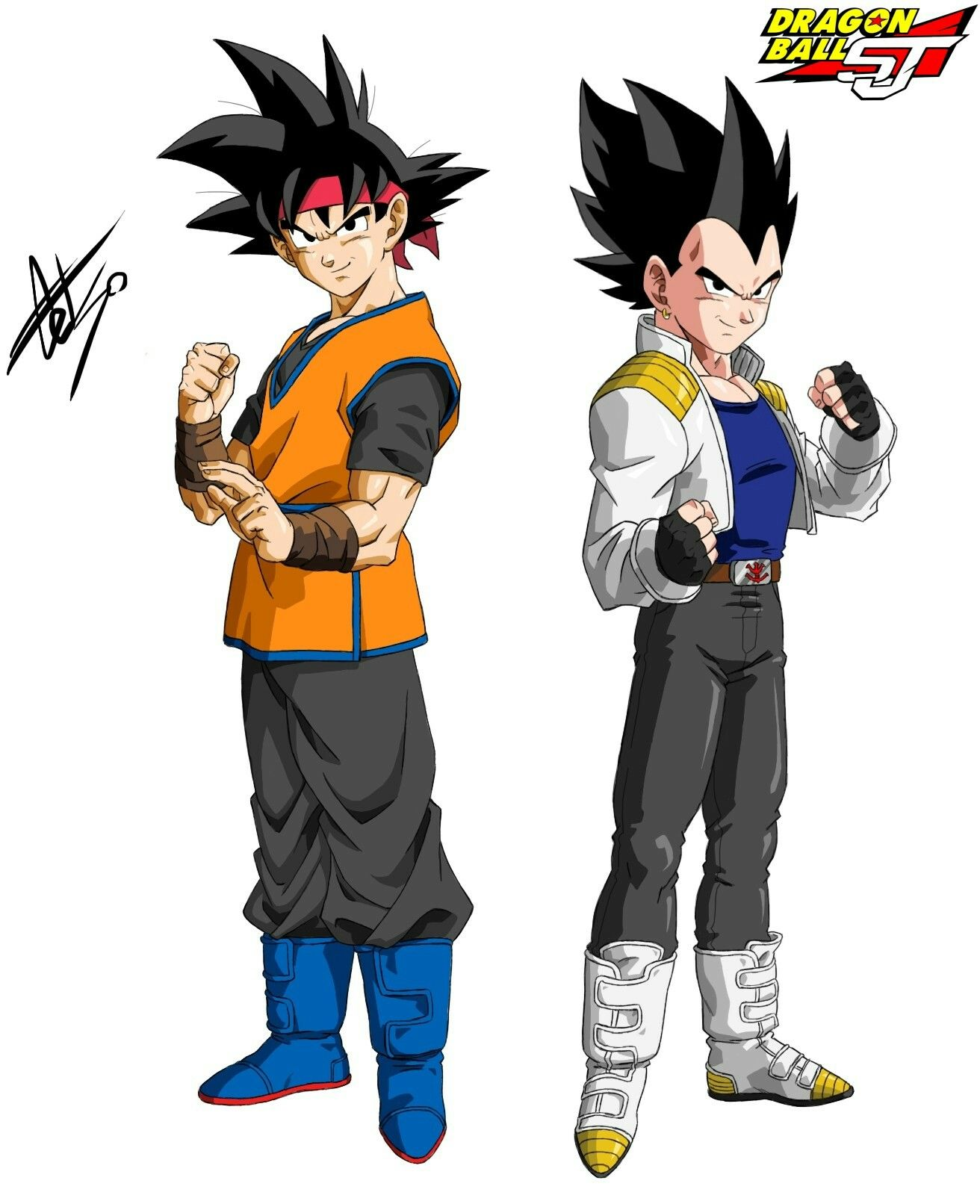 Goku Jr and Vegeta Jr - Dragon Ball Shin Jidai by celsohenrique ...