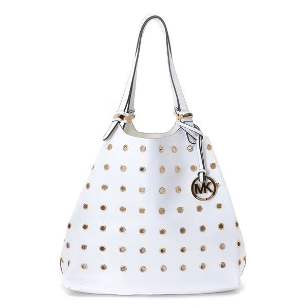 michael kors factory outlet handbags hanq  Michael Kors Perforated Grab Large White Shoulder Bags  FASHION   Pinterest  Michael kors outlet, Fashion designers and Bags