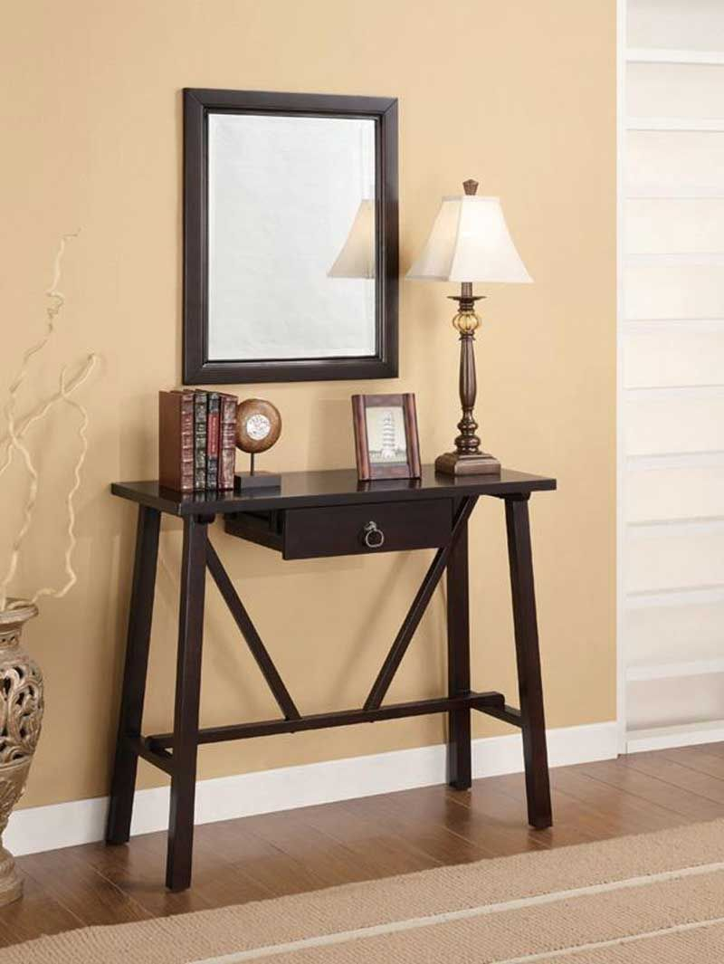 Amazing Example Of Mirror And Foyer Table 4
