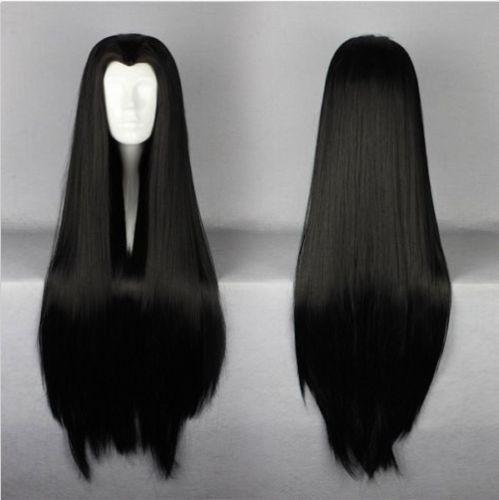 New High Quanlity Fashion 100cm Long Black Cosplay Costume Wig