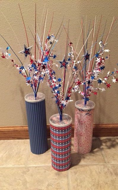 DIY firecracker decorations.
