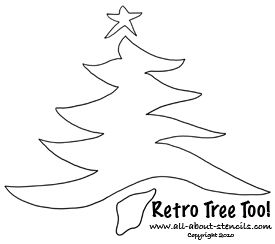 free printable christmas tree stencil from wwwall about stencilscom - Holiday Stencils Free Printables