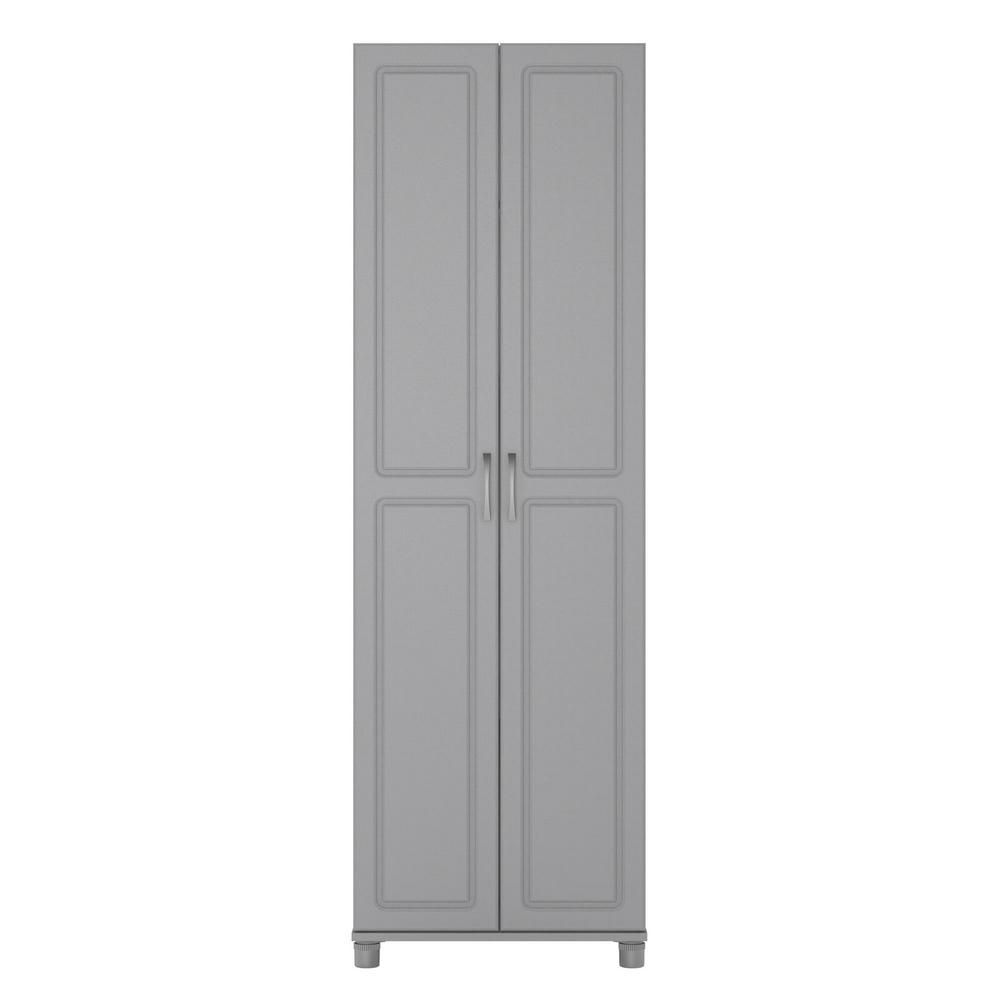 Ameriwood Home Trailwinds 24 In Ashen Gray Utility Storage