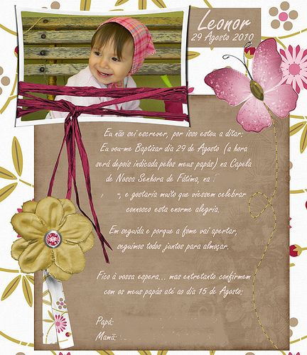 This is the invitation I made for my little one's christening. #invitations #scrapbook #christening