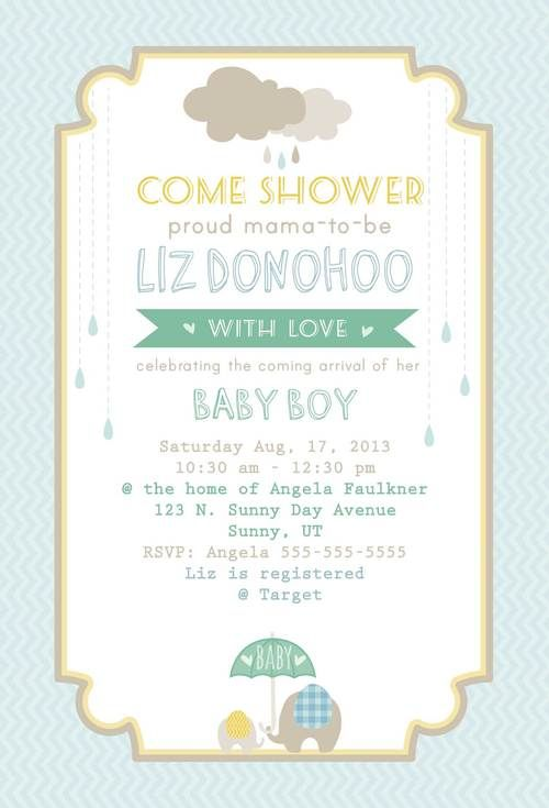 Baby Shower Invite Free Printable