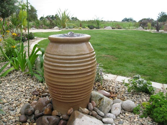Mediterranean Greek Style Urn Water Feature Water Features Mediterranean Garden Garden Design