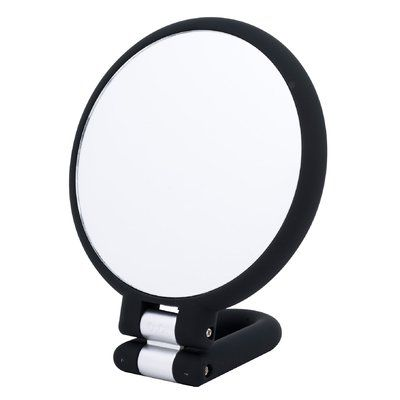 Symple Stuff 3 In 1 Folding Hand Held 15x Mirror Wall Mounted Jewelry Armoire Mirror With Hooks Freestanding Mirrors