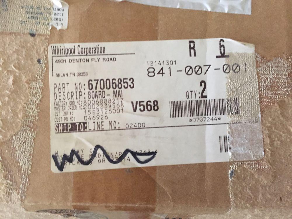 Whirlpool Washer Control Board W10187488 free shipping