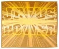 Biederlack Jesus Power Golden Rayed Blanket Throw 60x50