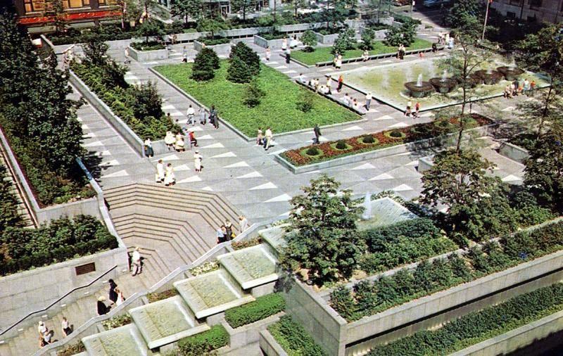 Mellon Square Plaza and the William Penn Hotel