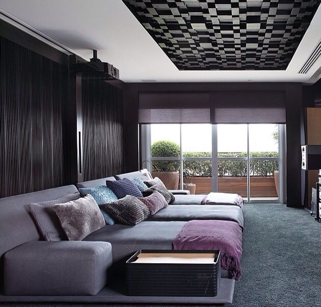 sala by a1 arquitetura 1 in 2019 pinterest heimkino heim and kino. Black Bedroom Furniture Sets. Home Design Ideas