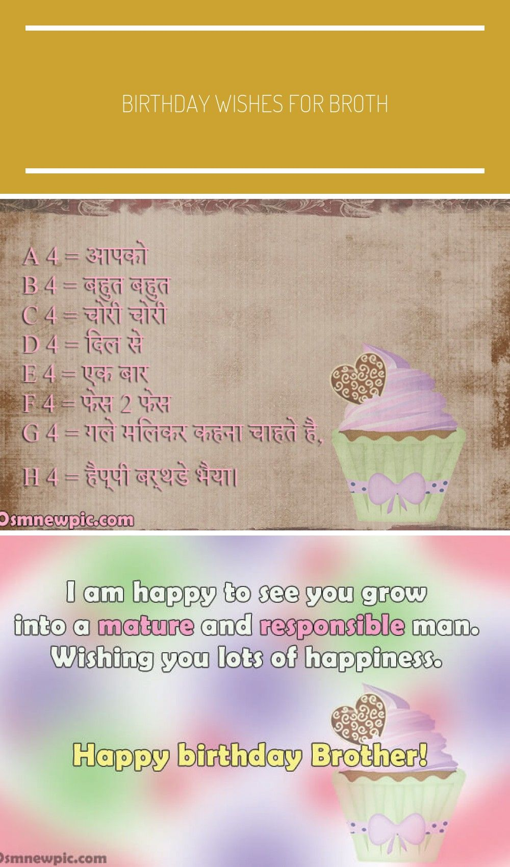 Birthday Wishes For Brother In Hindi Birthday Wishes For Brother
