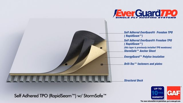 Gaf Tpo Membrane Self Adhered Tpo Freedom Rapidseam