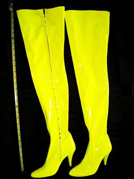 Yellow Thigh High Boots - Yu Boots
