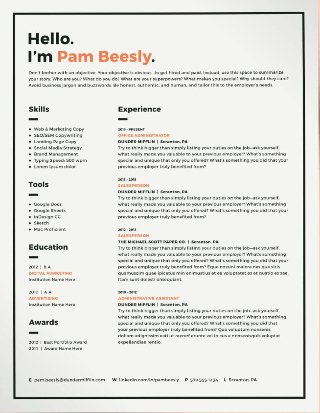 30 Creative Resume Examples For Every Field In 2020 Resume Design Creative Creative Resume Creative Resume Templates