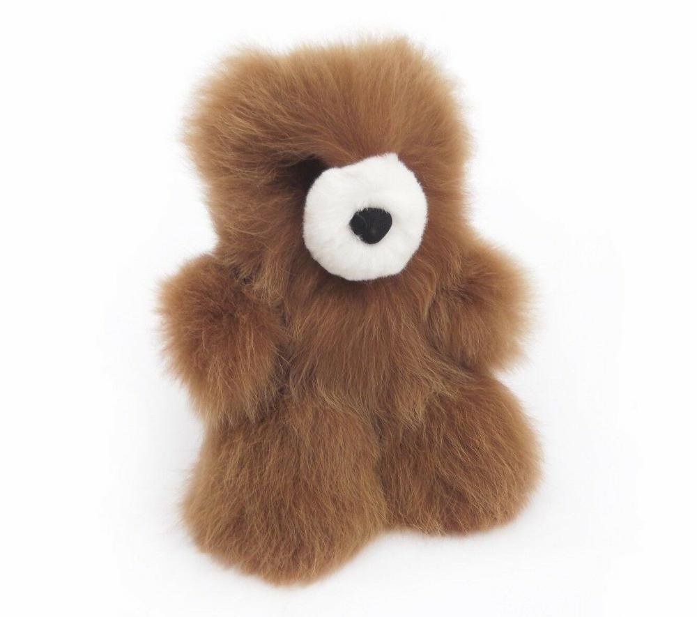Details About Handmade Alpaca Brown Teddy Bear Unique Stuffed Animal Bear Soft Peruvian Toys Cayos